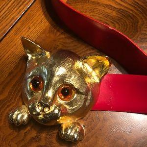 C Ross classic kitty cat detail 🐱 Belt size 36